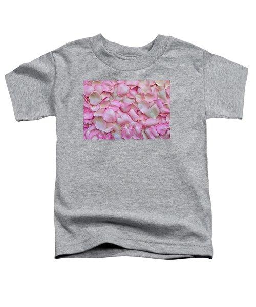 Pink Rose Petals Toddler T-Shirt