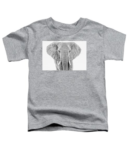 Portrait Of An African Elephant Bull In Monochrome Toddler T-Shirt