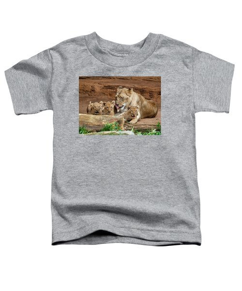 Toddler T-Shirt featuring the photograph Pride Of The Pride 6114 by Donald Brown