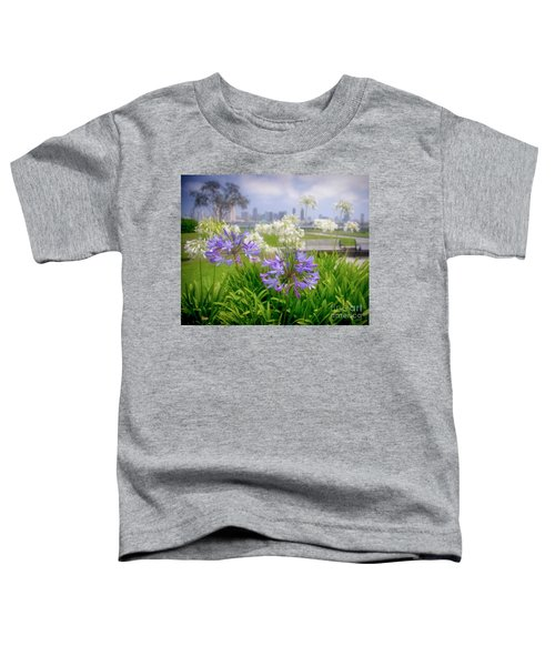 Purple Flowers In San Diego Toddler T-Shirt