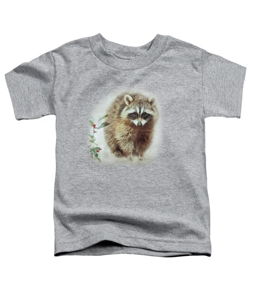 Raccoon In Winterberry Toddler T-Shirt