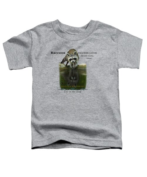 Raccoon Puzzler And Mastermind Toddler T-Shirt
