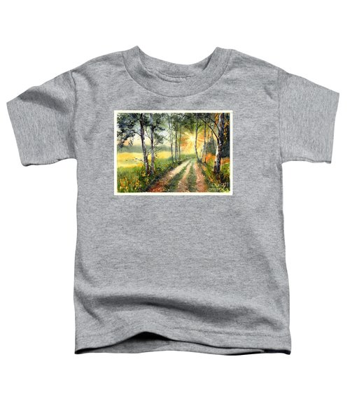 Radiant Sun On The Autumn Sky Toddler T-Shirt