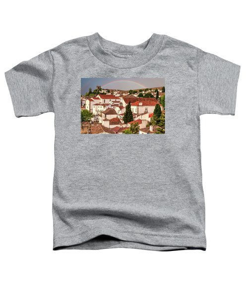 Rainbow Over Castle Toddler T-Shirt