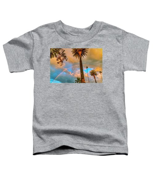 Rainbow Over The Palms Toddler T-Shirt
