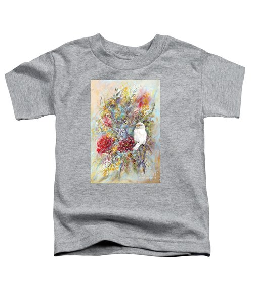 Rare White Sparrow - Portrait View. Toddler T-Shirt