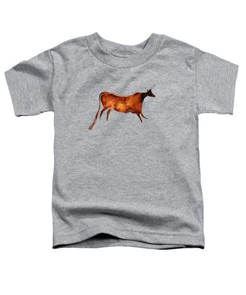 Red Cow In Beige Toddler T-Shirt