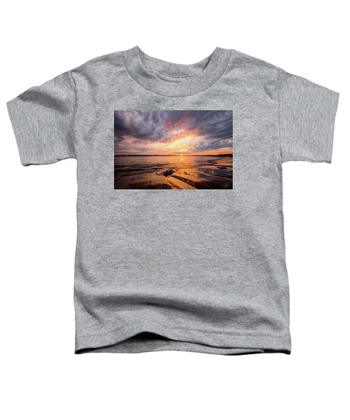 Reflect The Drama, Sunset At Fort Foster Park Toddler T-Shirt