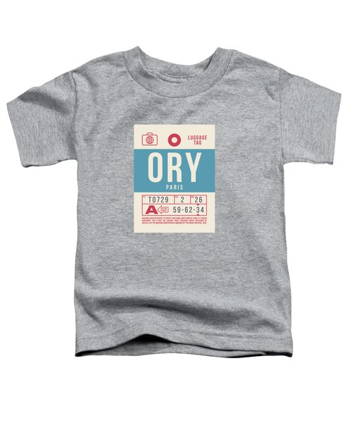 Retro Airline Luggage Tag 2.0 - Ory Paris Orly Airport France Toddler T-Shirt