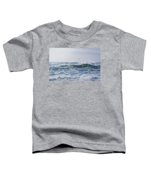 Reynisfjara Seagull Over Crashing Waves Toddler T-Shirt