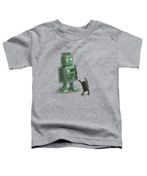 Robot Vs Alien Toddler T-Shirt