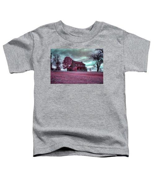 Rose Farm In Infrared Toddler T-Shirt