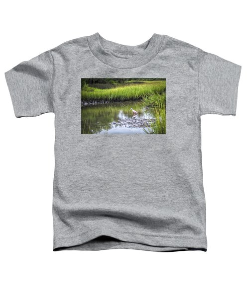 Roseate Spoonbill - Feeding Toddler T-Shirt