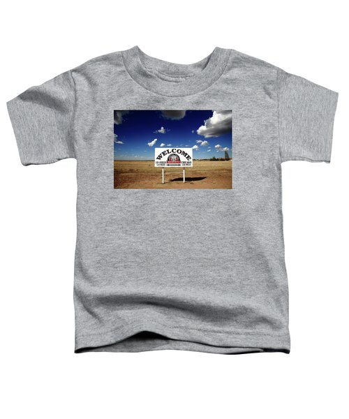 Route 66 - Midpoint Sign 2010 Bw Toddler T-Shirt