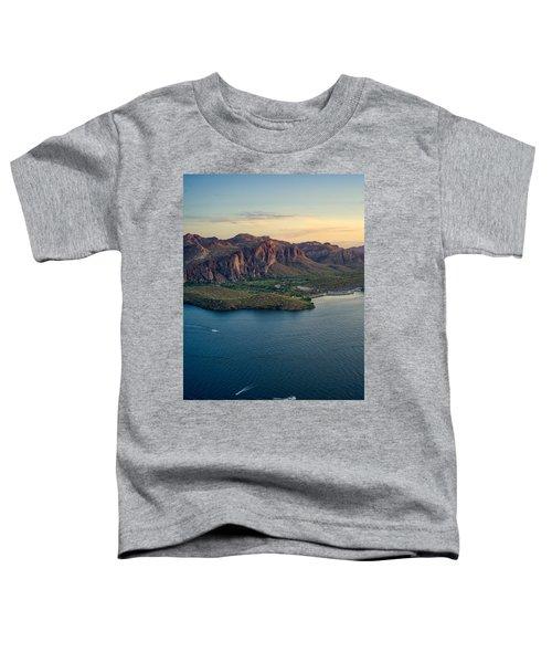 Saguaro Lake Mountain Sunset Toddler T-Shirt