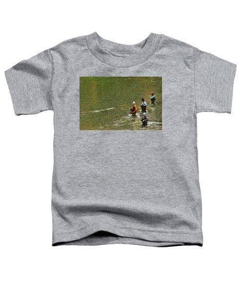 Salmon Fishing Nisqually River Toddler T-Shirt