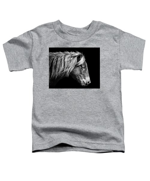 Sarah's Sweat Tea Portrait In Black And White Toddler T-Shirt