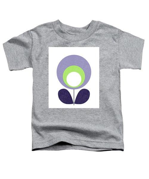 Scandinavian Violet Flower Toddler T-Shirt