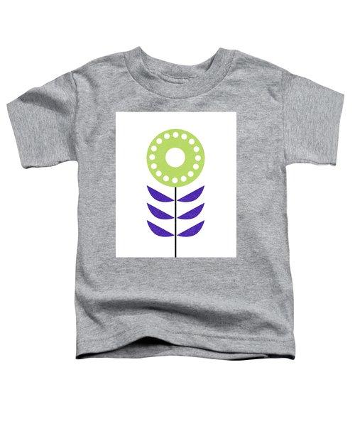 Scandinavian Yellow Green Flower Toddler T-Shirt