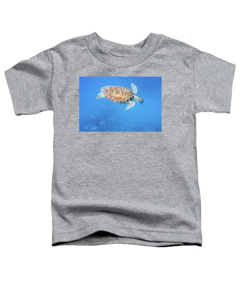 Sea Turtle And Fish Swimming Toddler T-Shirt