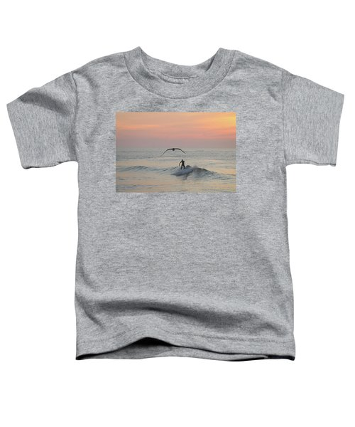 Seagull And A Surfer Toddler T-Shirt