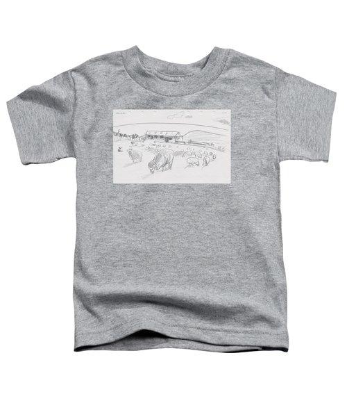 Sheep On Chatham Island, New Zealand Toddler T-Shirt