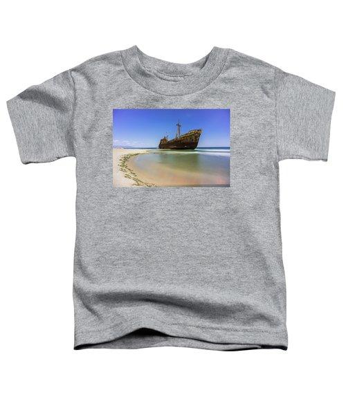 Shipwreck Dimitros Near Gythio, Greece Toddler T-Shirt