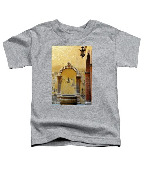 Sienna Fountain Courtyard Toddler T-Shirt
