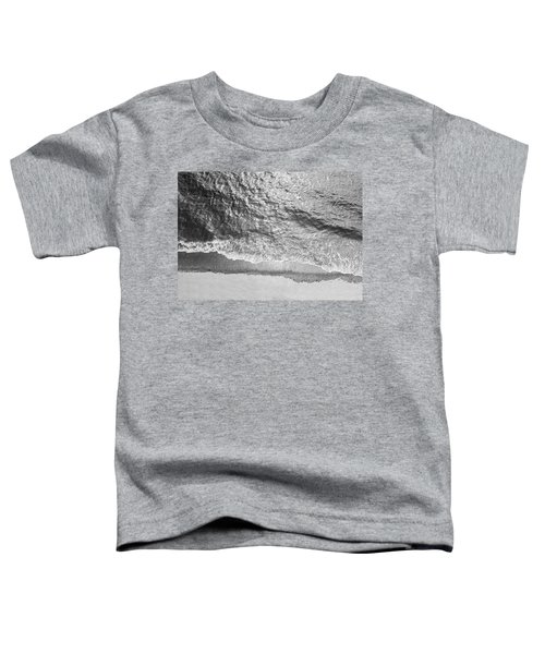 Simple Beach Wave Black And White Toddler T-Shirt