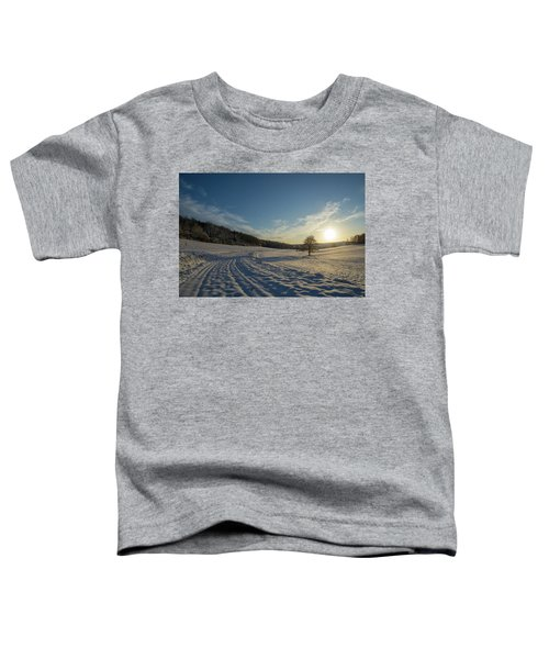 Snow And Sunset Toddler T-Shirt
