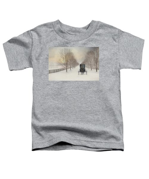 Snowy Amish Lane Toddler T-Shirt
