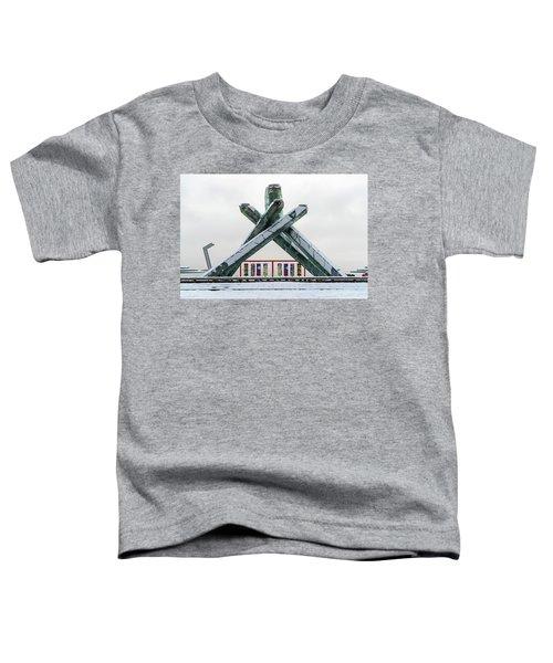 Snowy Olympic Cauldron Toddler T-Shirt