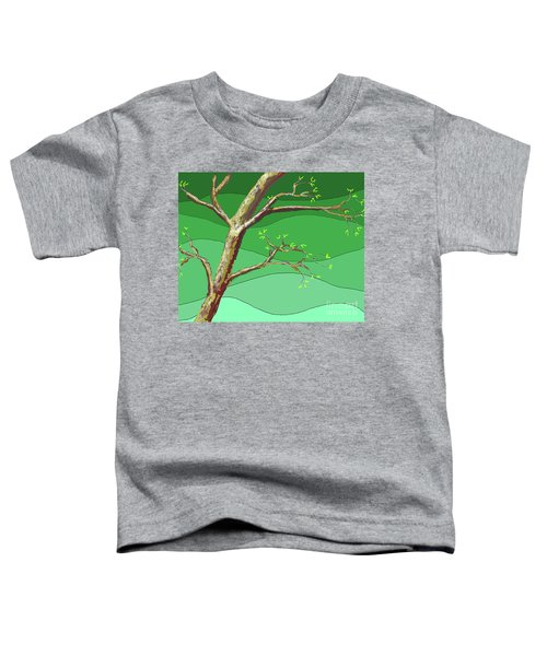 Spring Errupts In Green Toddler T-Shirt