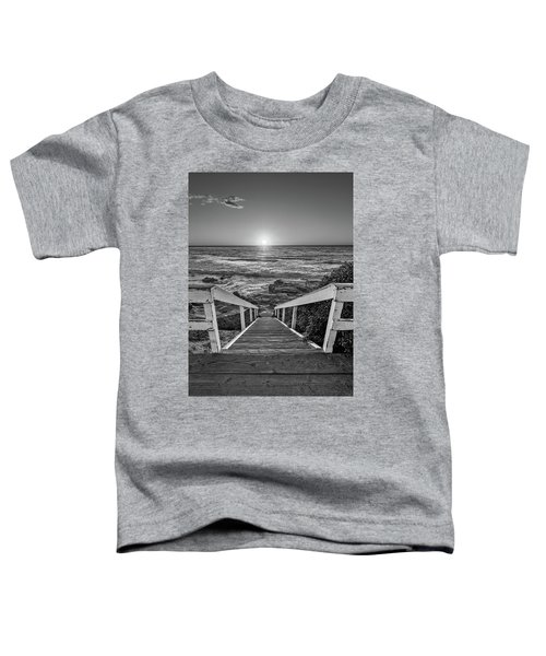 Steps To The Sun  Black And White Toddler T-Shirt