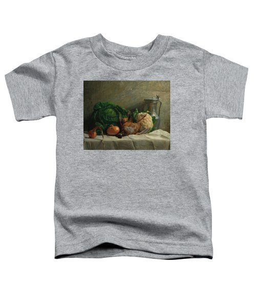 Still Life With Vegetables, Partridge, And A Jug, 1858  Toddler T-Shirt