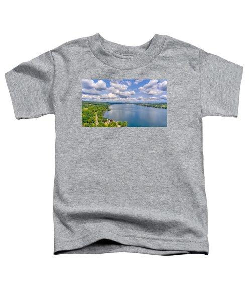Summer Clouds On Keuka Lake Toddler T-Shirt