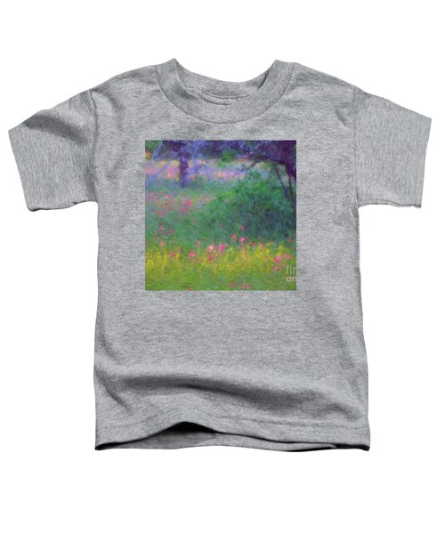 Sunset In Flower Meadow Toddler T-Shirt