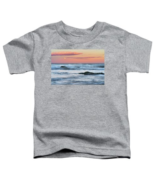 Super Moon And Sunset At Sozopol Town Beach Toddler T-Shirt