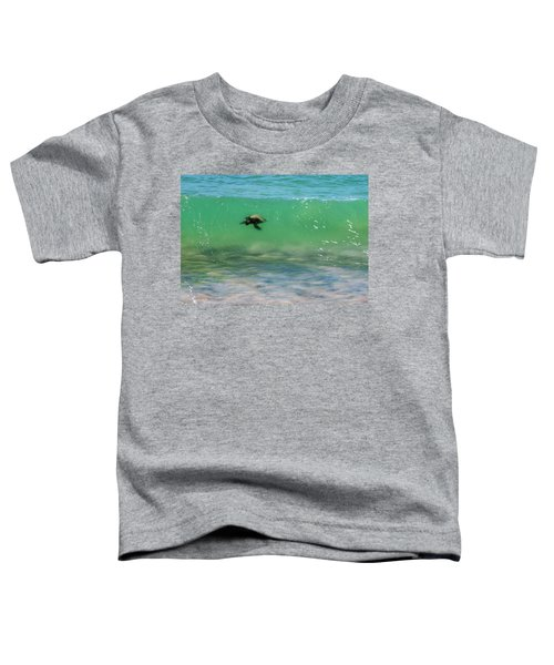 Surfing Turtle Toddler T-Shirt
