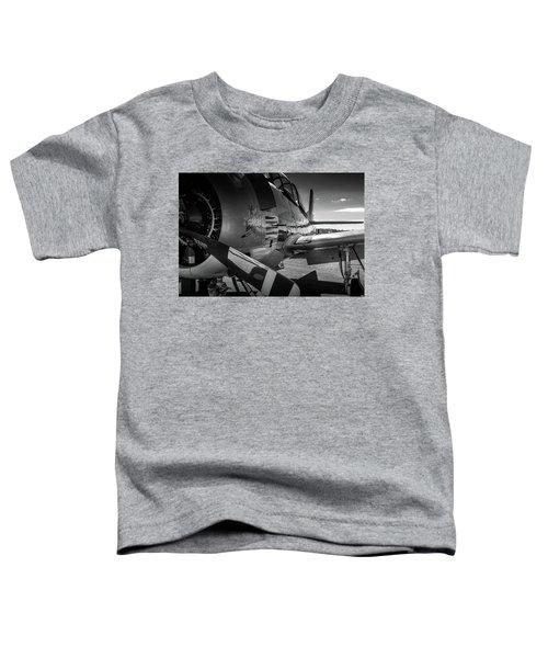 T-28b Trojan In Bw Toddler T-Shirt