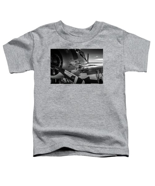 T-28b Trojan In Bw Toddler T-Shirt