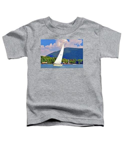 Tacking Lighthouse Sailor, Smith Mountain Lake Toddler T-Shirt