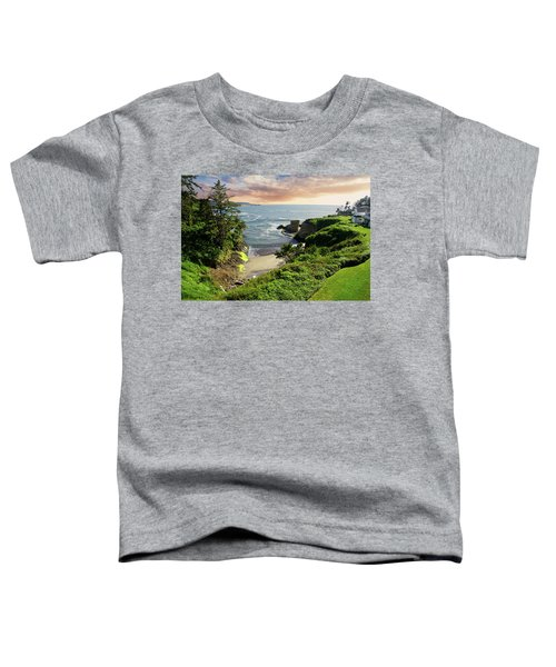 Tall Conifer Above Protected Small Cov Toddler T-Shirt