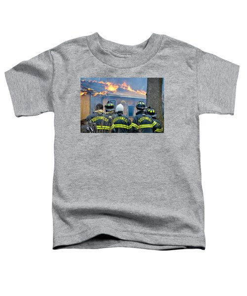 Toddler T-Shirt featuring the photograph The Crew by Carl Young