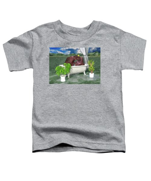 The Hippo Tub Toddler T-Shirt