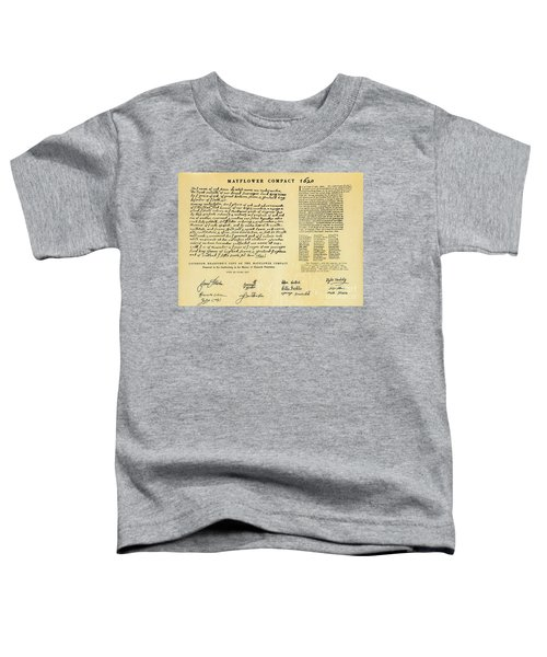 The Mayflower Compact  Toddler T-Shirt