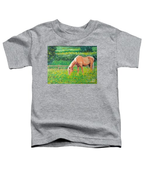 The Palomino And Buttercup Meadow Toddler T-Shirt