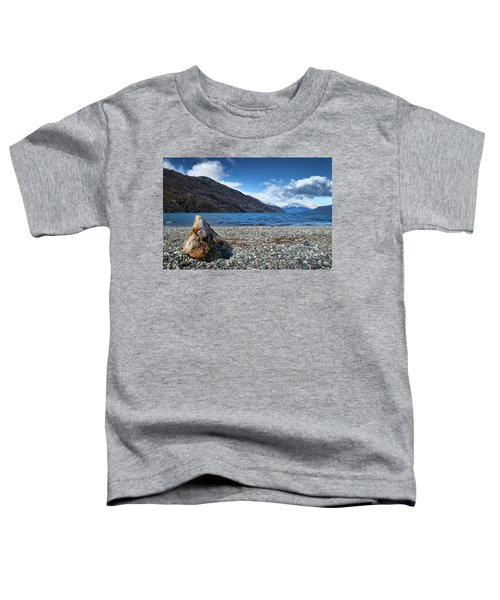 The Trunk, The Lake And The Mountainous Landscape Toddler T-Shirt