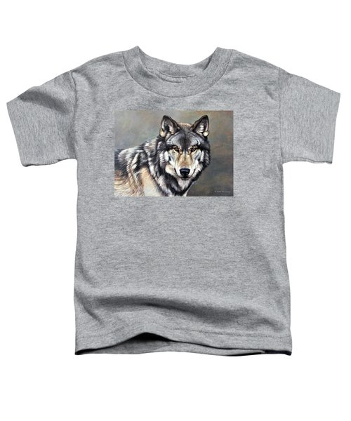 Timber Wolf By Alan M Hunt Toddler T-Shirt