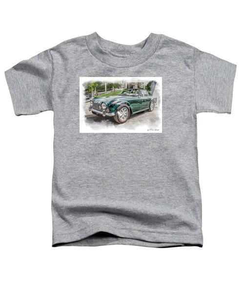 Triumph Tr5 At Roman Gardens Toddler T-Shirt